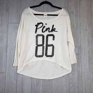 PINK Victoria's Secret Long Sleeve Hi Low Hem Top